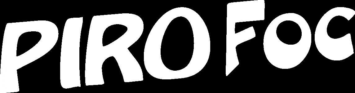 Logotipo Piro Foc en blanco